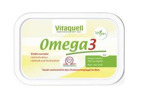 Vitaquell Omega-3 Pflanzenmargarine, vegan, 250g