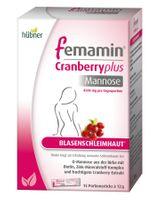 Hübner femamin Cranberry plus Mannose 15 Sticks