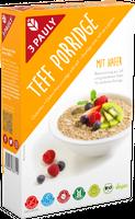 3 PAULY Teff Porridge mit Hafer, BIO, 250 g