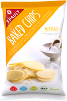 3 PAULY Baked Chips Meersalz, BIO 85 g