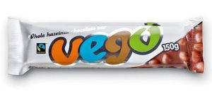 VEGO Whole Hazelnut Chocolate Bar, bio, 150g