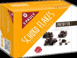 3 PAULY Schoko Flakes Zartbitter, glutenfrei, 145 g