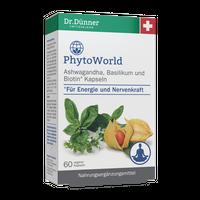 Dr. Dünner PhytoWorld Ashwagandha, Basilikum und Biotin Kapseln, 40 Stück