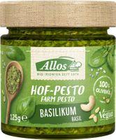 Allos Hof-Pesto Basilikum, bio, vegan, 125g