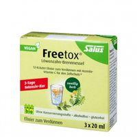 Salus Freetox Löwenzahn-Brennnessel 12-Kräuter-Elixier, bio, 3x20 ml