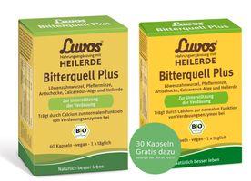 Luvos Heilerde Bitterquell Plus, vegan, 60 Kapseln + 30 Kapseln  Gratis – Bild 1