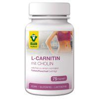 Raab L-Carnitin mit Cholin 75 Kapseln à 650 mg, 48,8g